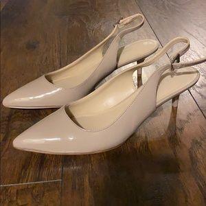Nude Calvin Klein sling back heels